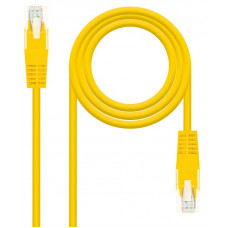 Network Cable RJ45 Cat5e U/UTP Yellow (50cm)