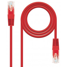Network Cable RJ45 Cat5e U/UTP Red (3m)